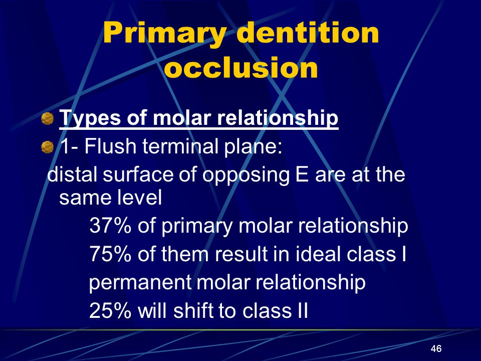 Primary dentition occlusion