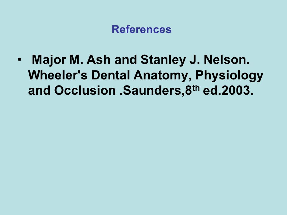 References Major M. Ash and Stanley J. Nelson.