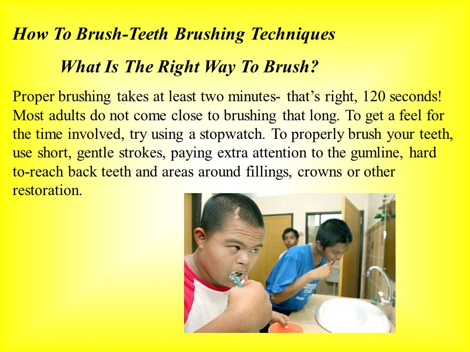 How To Brush-Teeth Brushing Techniques What Is The Right Way To Brush