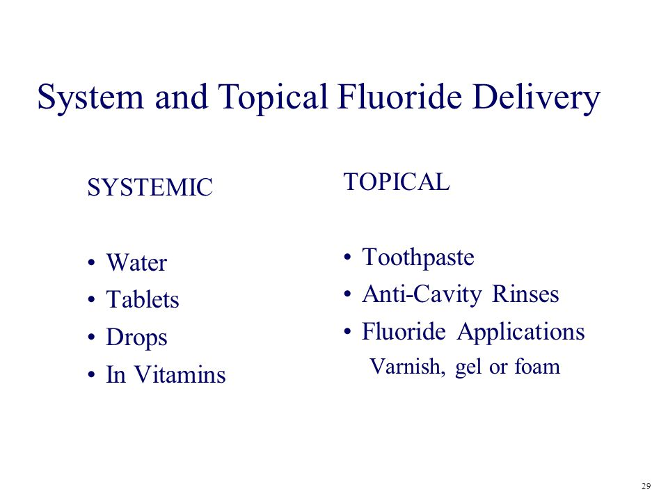 System and Topical Fluoride Delivery