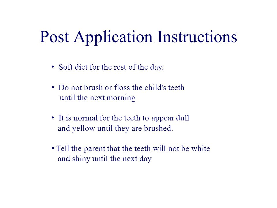Post Application Instructions