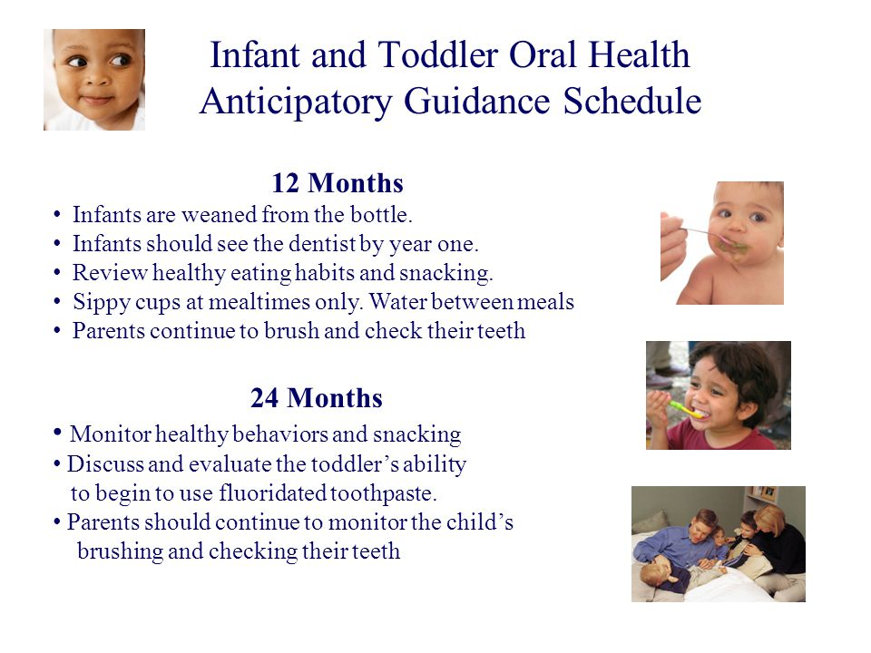 Infant and Toddler Oral Health Anticipatory Guidance Schedule