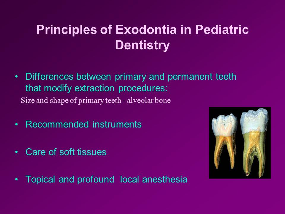 Principles of Exodontia in Pediatric Dentistry