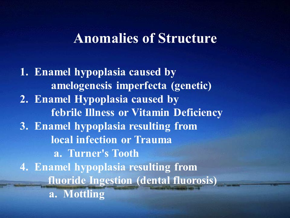 Anomalies of Structure