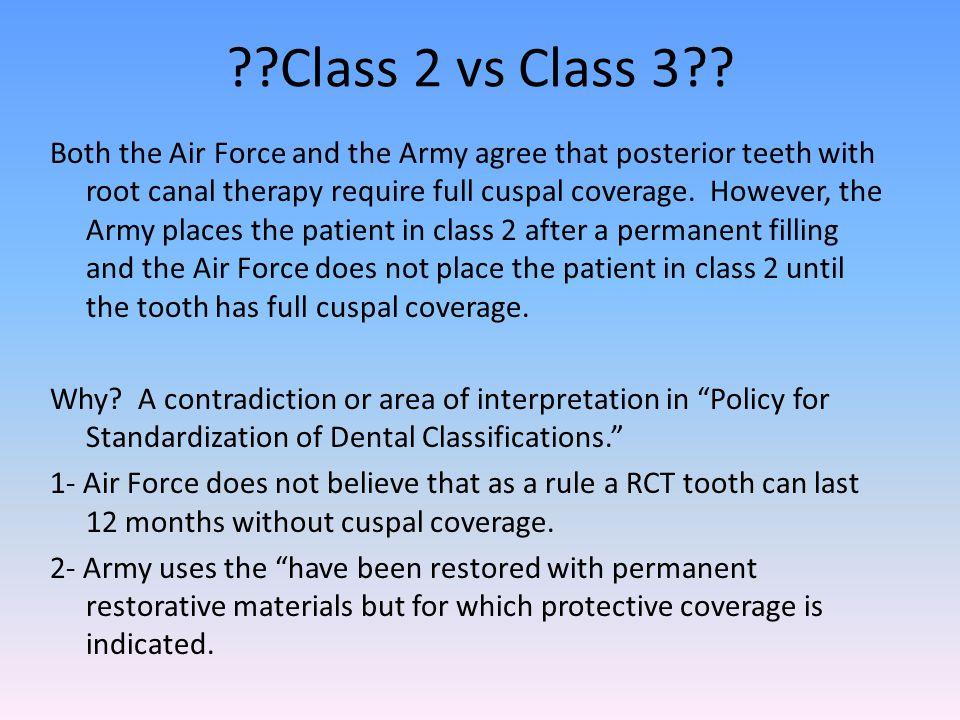 Class 2 vs Class 3