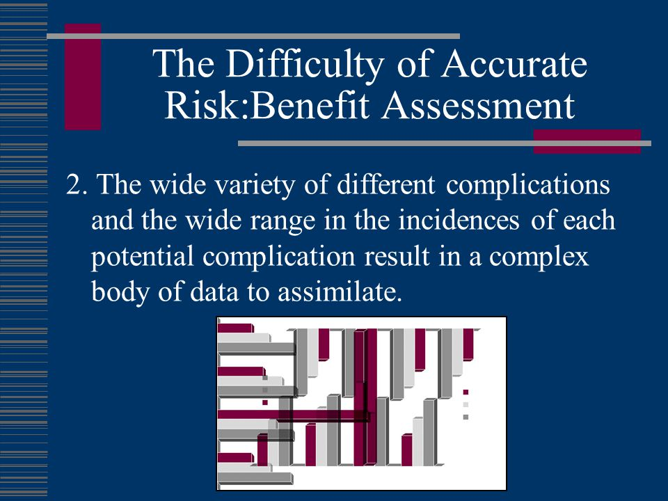 The Difficulty of Accurate Risk:Benefit Assessment
