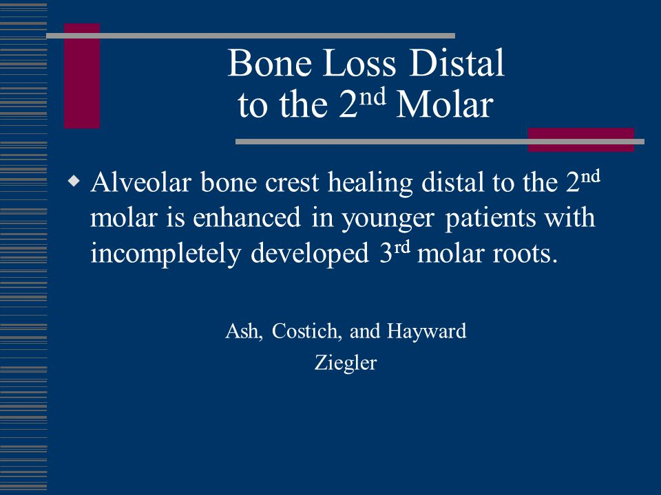 Bone Loss Distal to the 2nd Molar