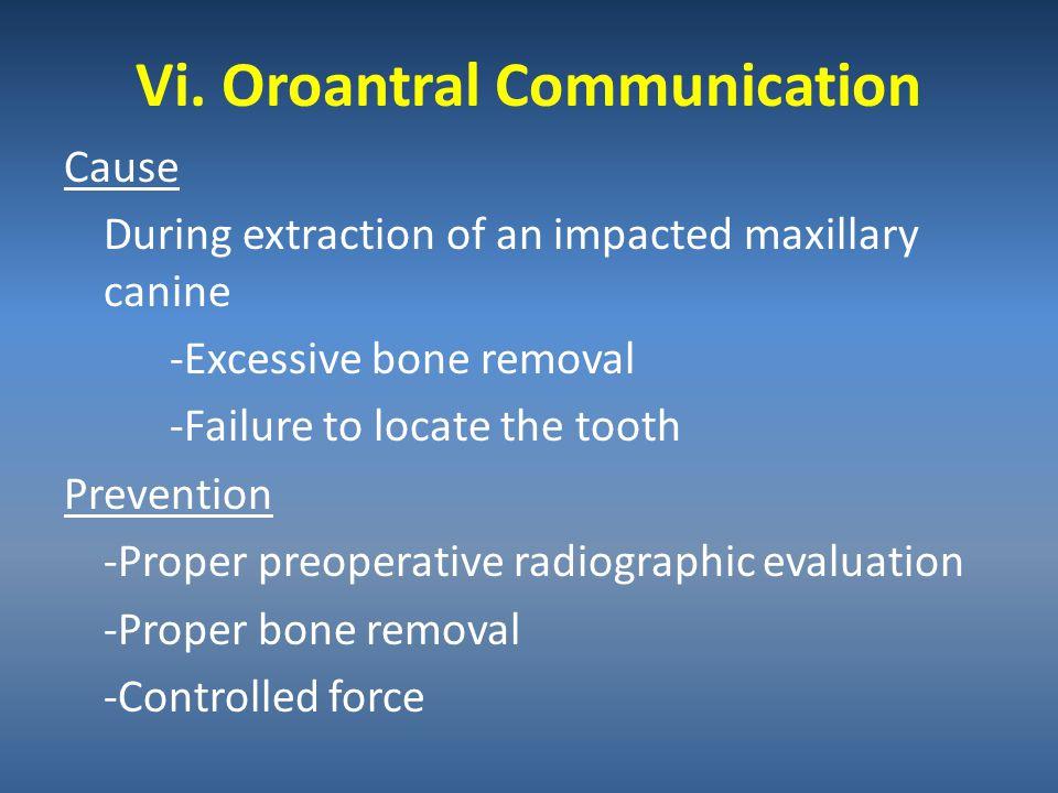 Vi. Oroantral Communication