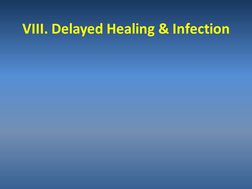 VIII. Delayed Healing & Infection