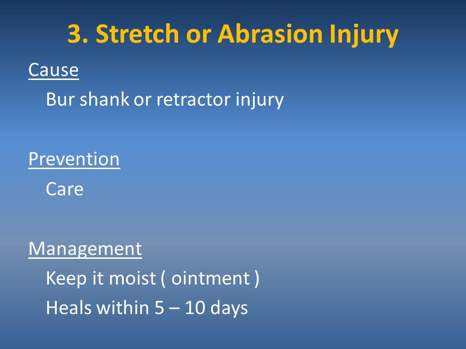 3. Stretch or Abrasion Injury