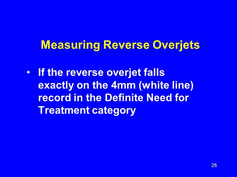 Measuring Reverse Overjets