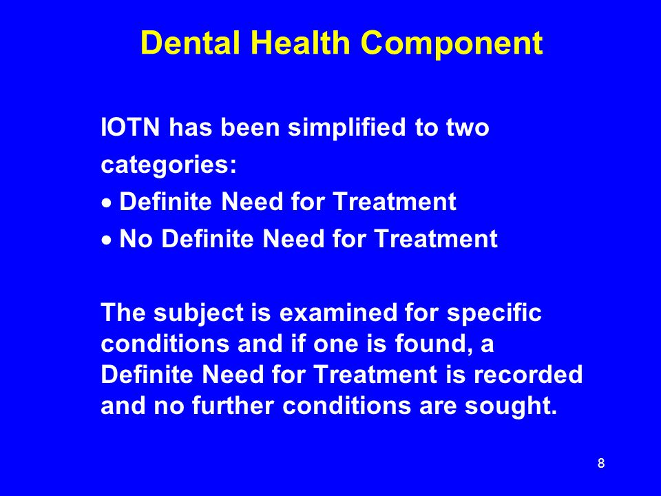 Dental Health Component