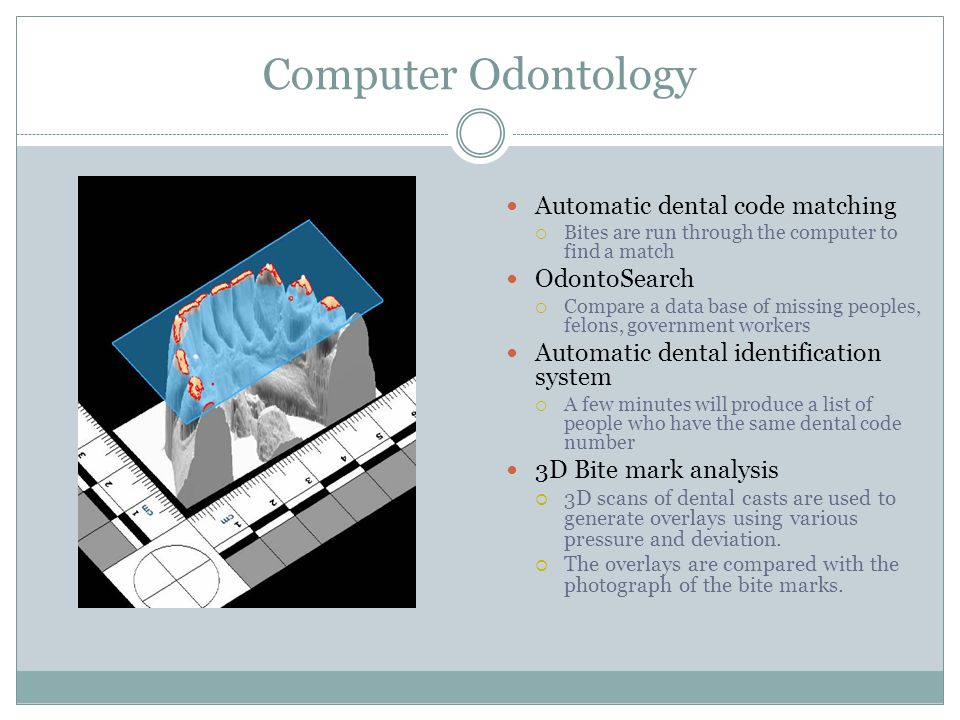 Computer Odontology Automatic dental code matching OdontoSearch