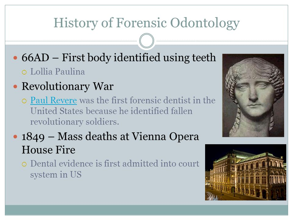 History of Forensic Odontology
