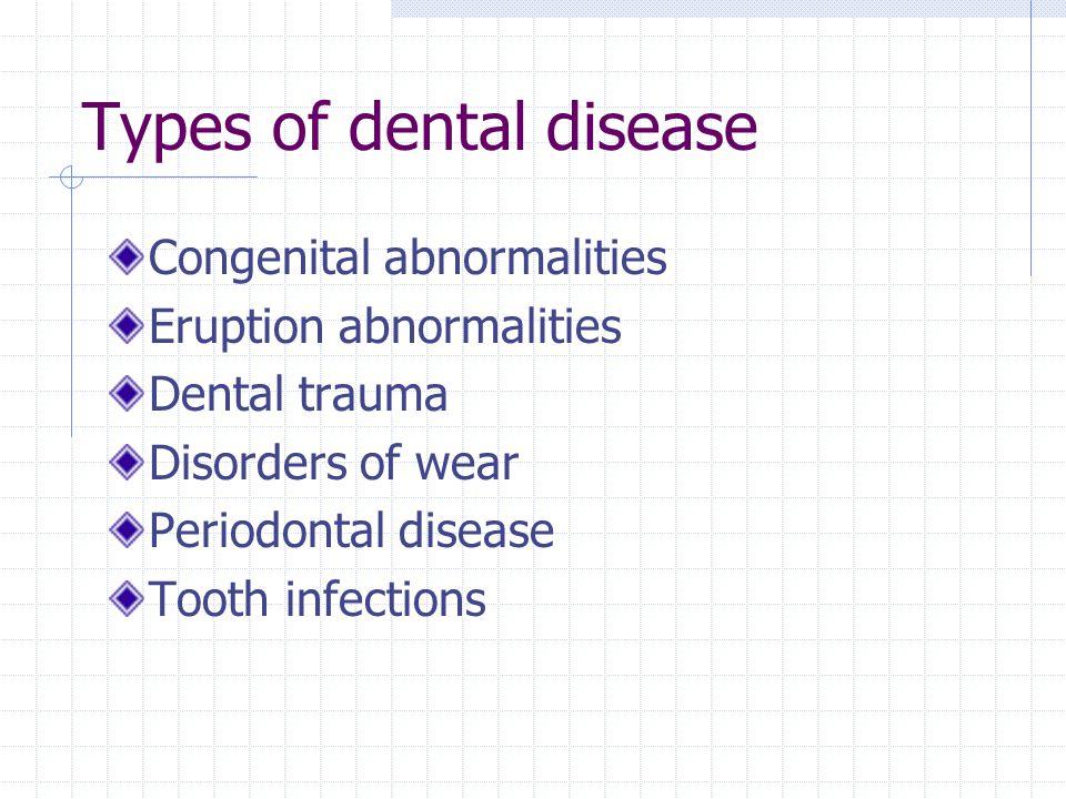 Types of dental disease