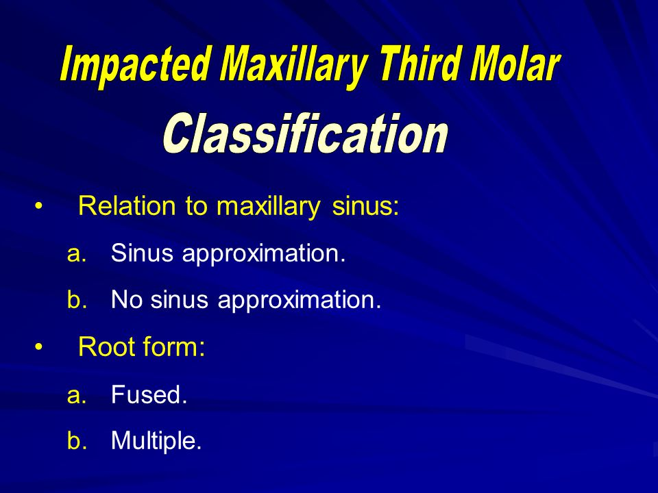 Impacted Maxillary Third Molar