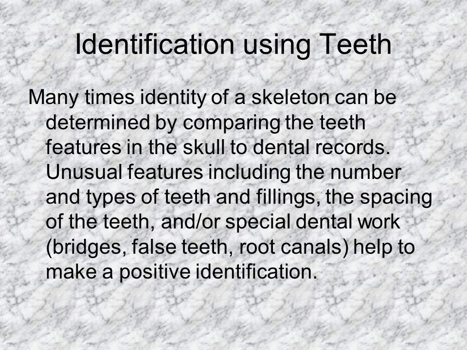Identification using Teeth