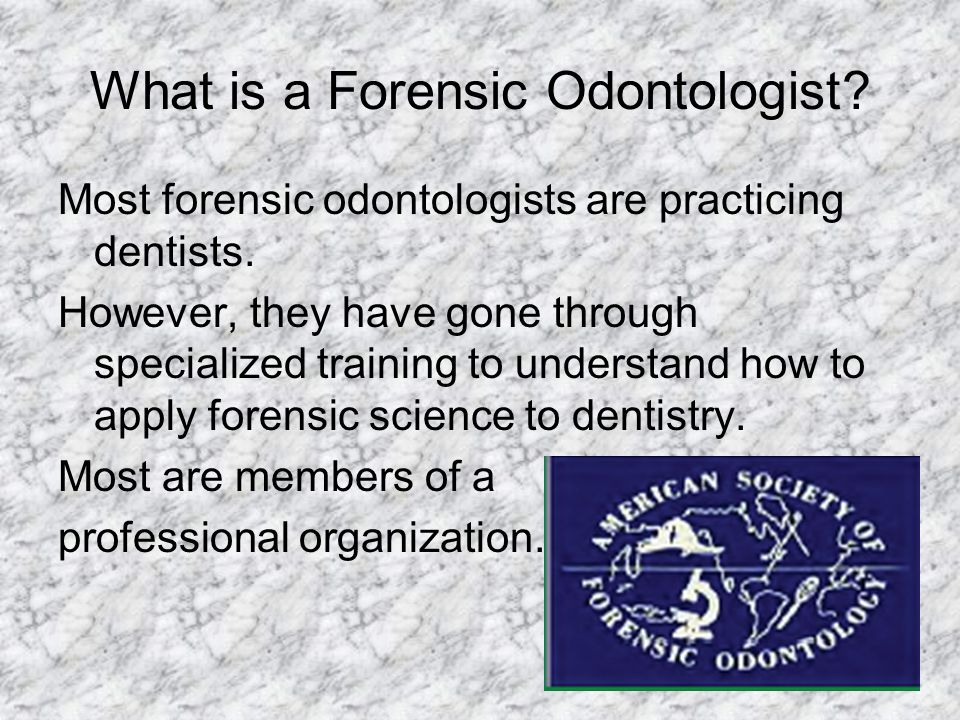 What is a Forensic Odontologist