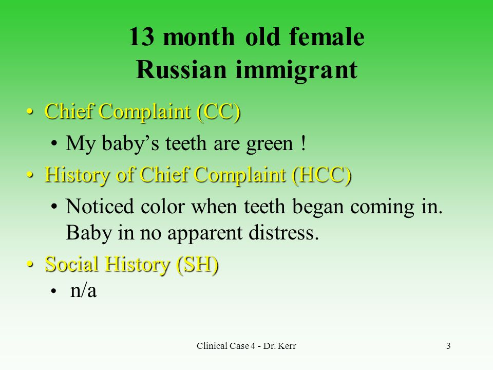 13 month old female Russian immigrant
