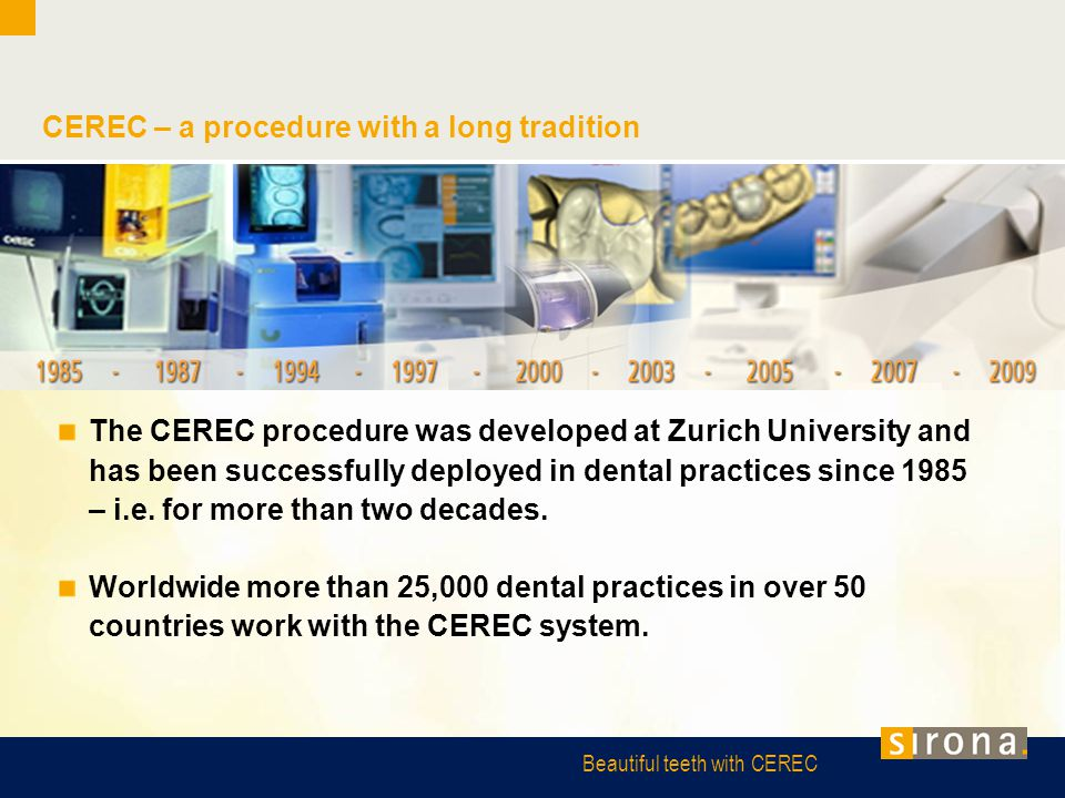 CEREC – a procedure with a long tradition