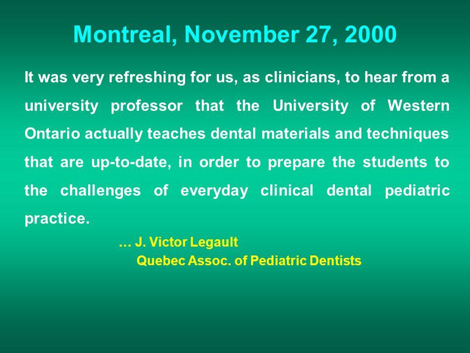 Montreal, November 27, 2000