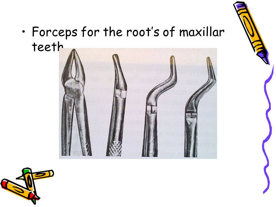 Forceps for the root's of maxillar teeth