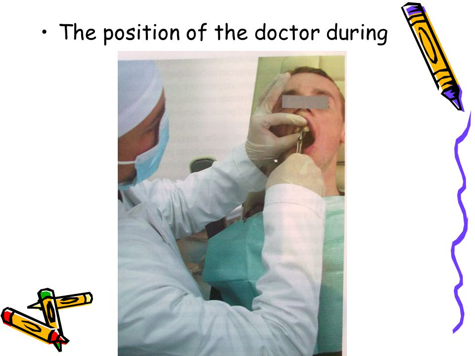 The position of the doctor during