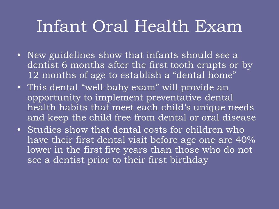 Infant Oral Health Exam