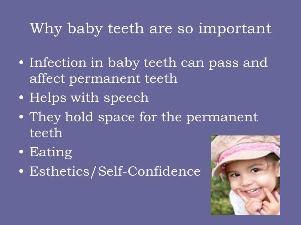 Why baby teeth are so important