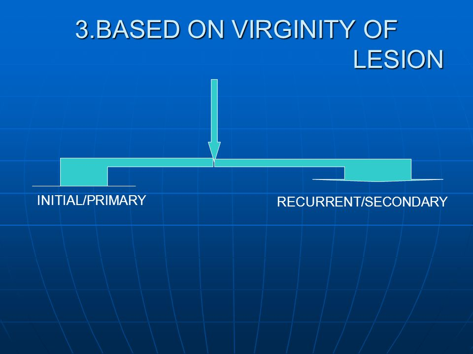 3.BASED ON VIRGINITY OF LESION