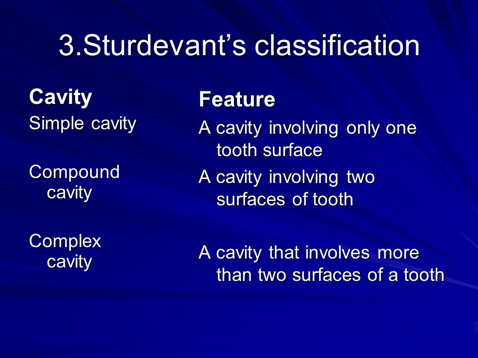 3.Sturdevant's classification