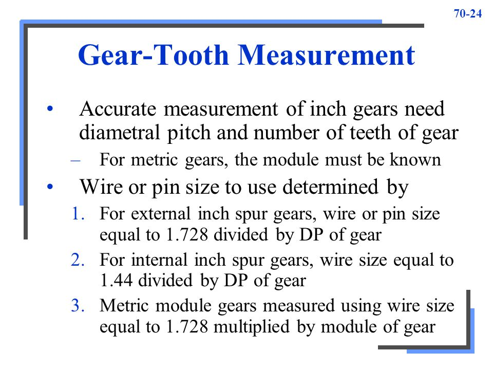 Gear-Tooth Measurement
