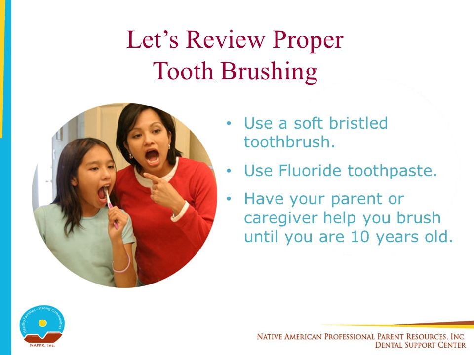 Let's Review Proper Tooth Brushing