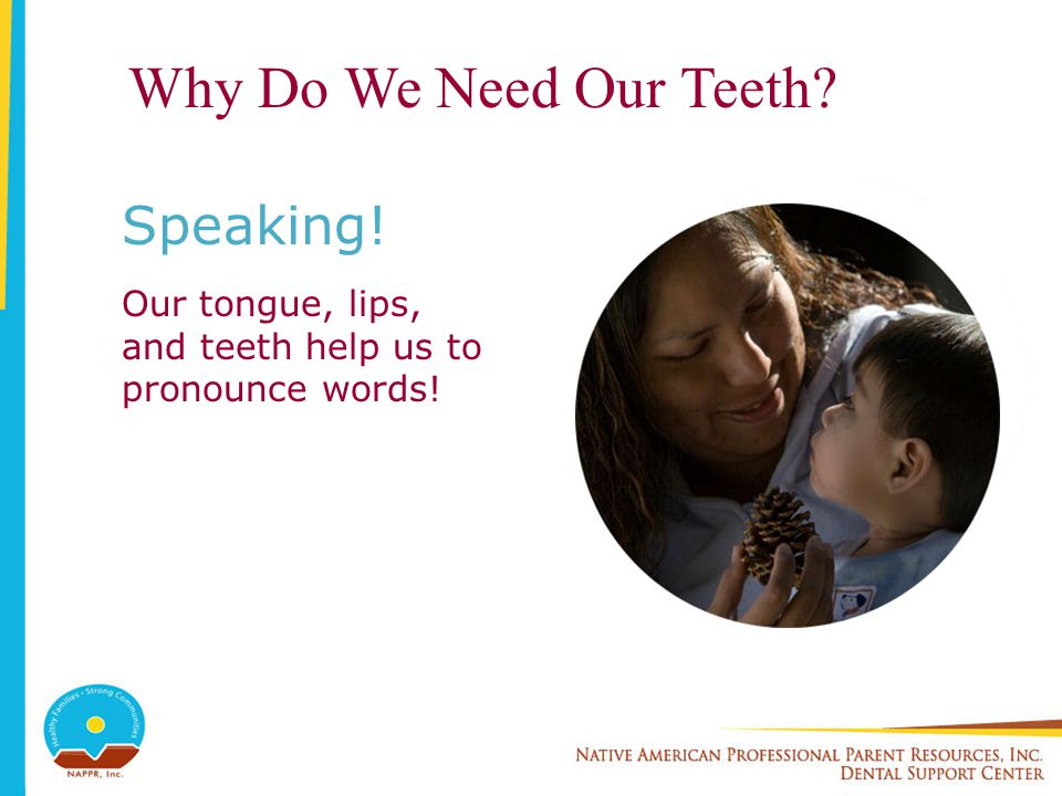 Why Do We Need Our Teeth Speaking!