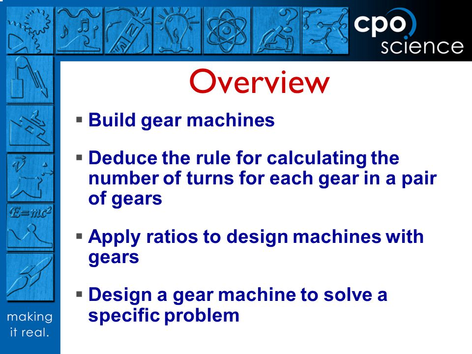 Overview Build gear machines