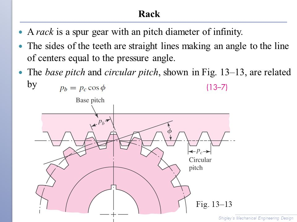 A rack is a spur gear with an pitch diameter of infinity.