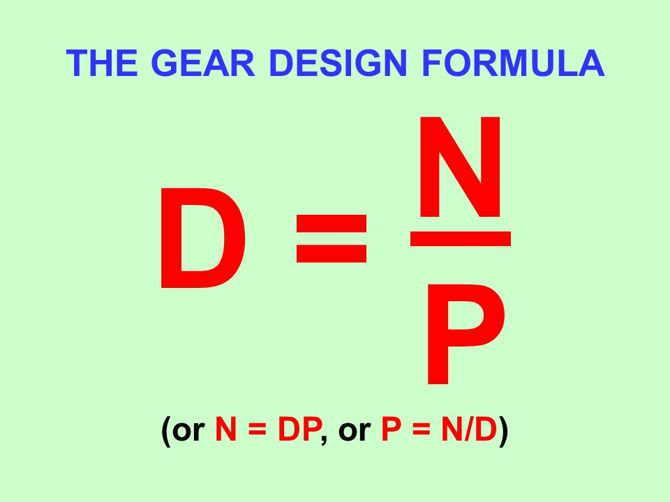 THE GEAR DESIGN FORMULA