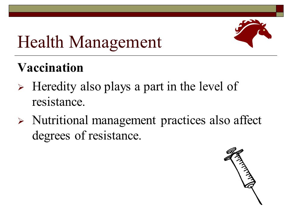 Health Management Vaccination