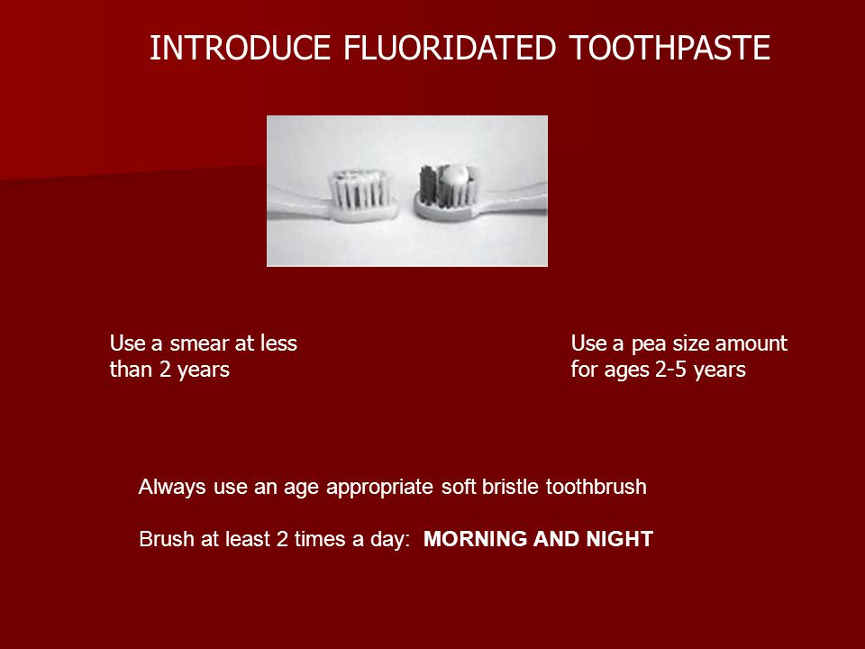 INTRODUCE FLUORIDATED TOOTHPASTE