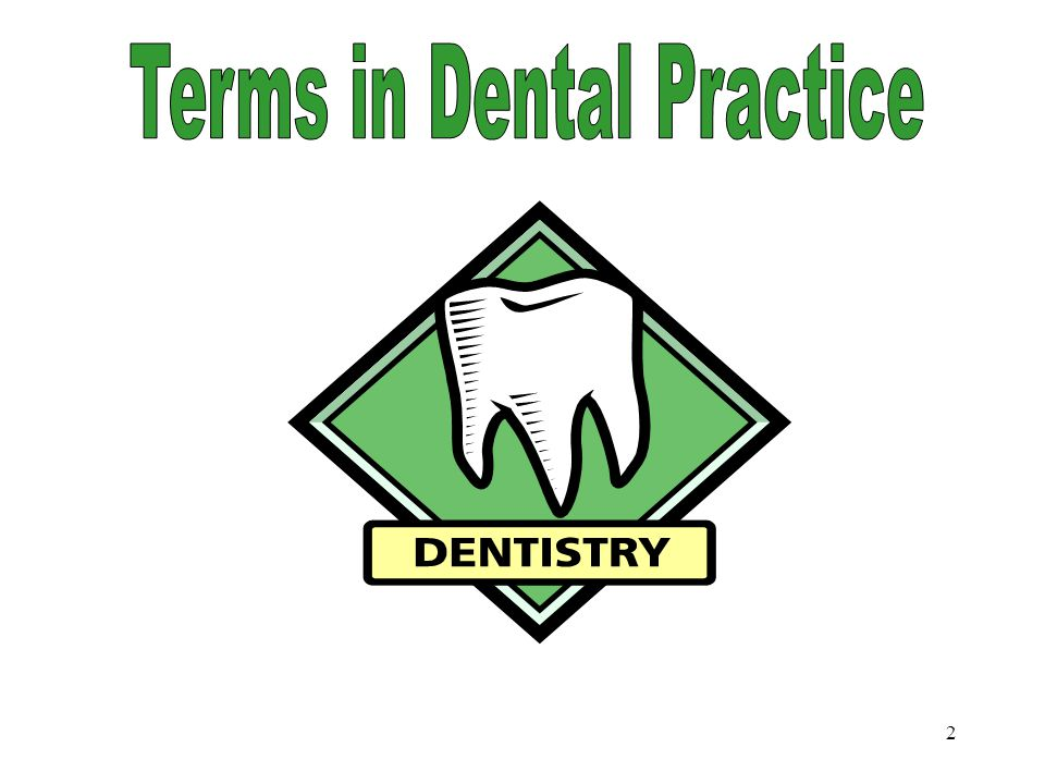 Terms in Dental Practice