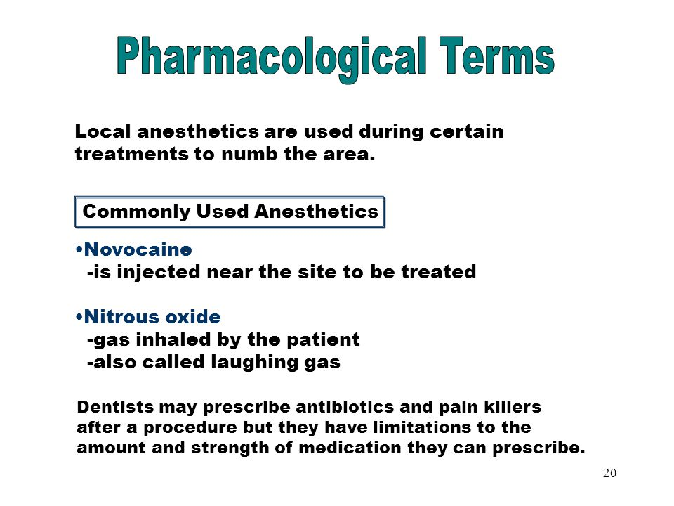 Commonly Used Anesthetics