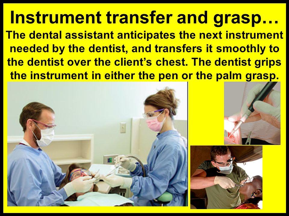 Instrument transfer and grasp…