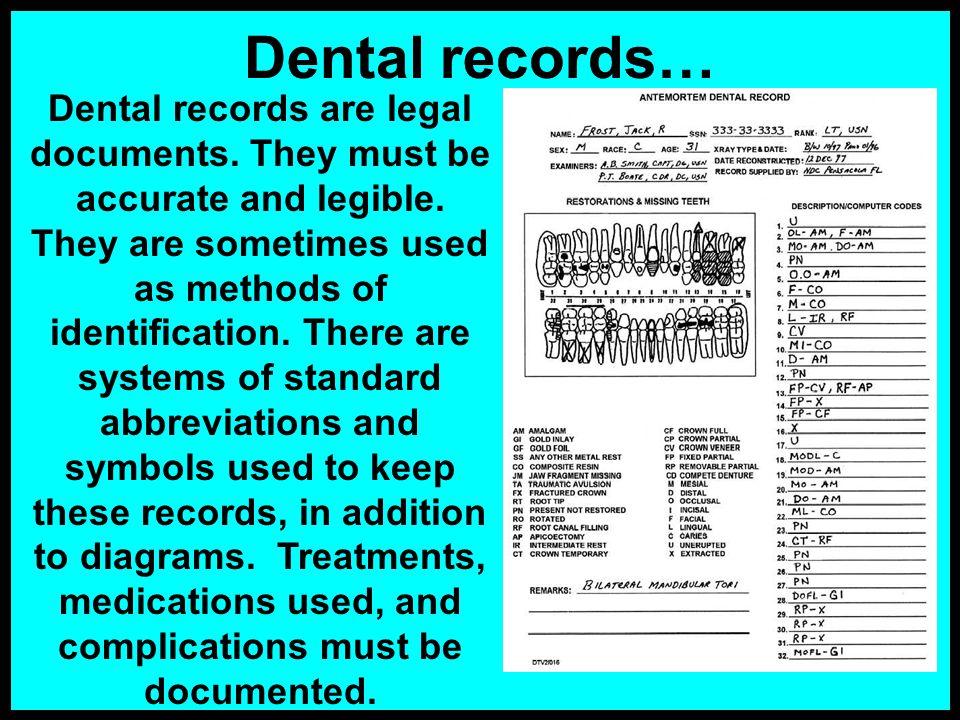 Dental records…
