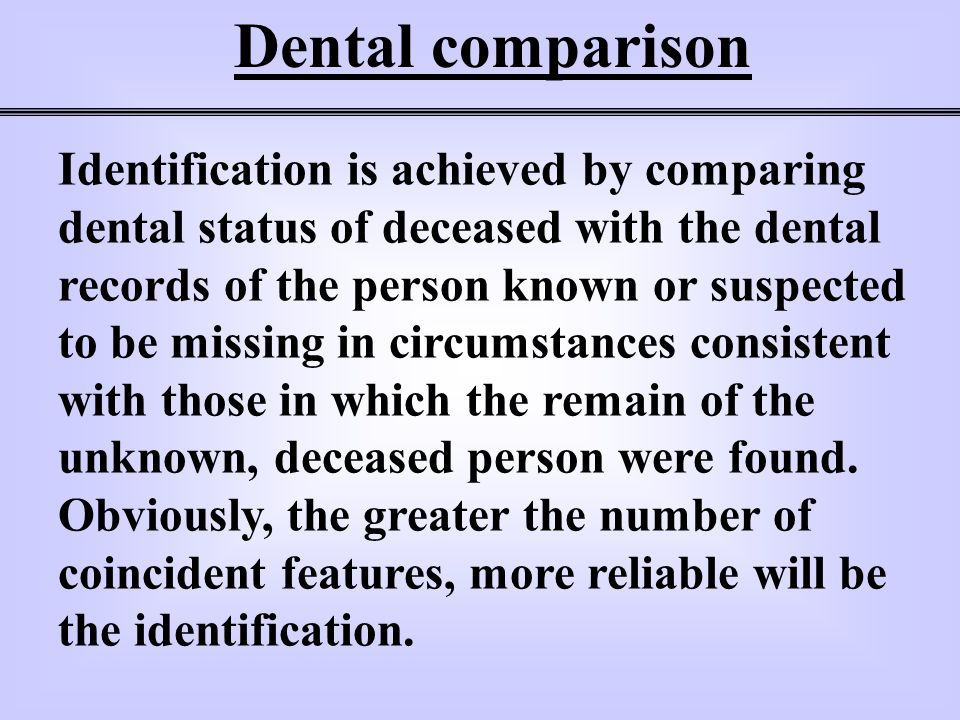 Dental comparison