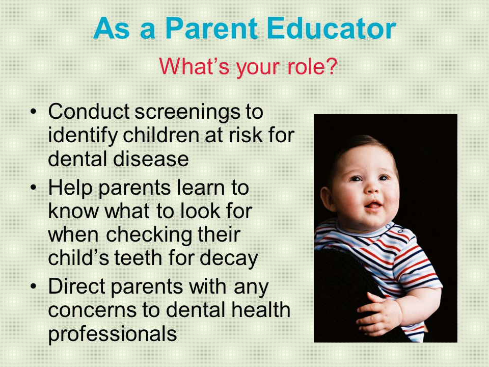 As a Parent Educator What's your role
