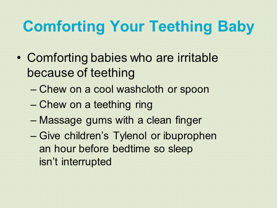 Comforting Your Teething Baby