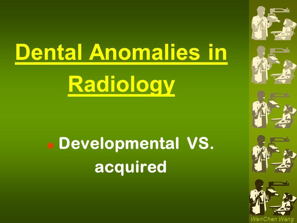 Dental Anomalies in Radiology