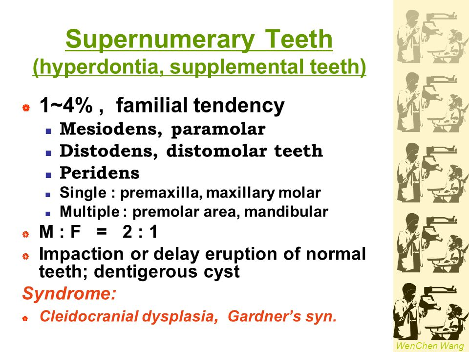 Supernumerary Teeth (hyperdontia, supplemental teeth)