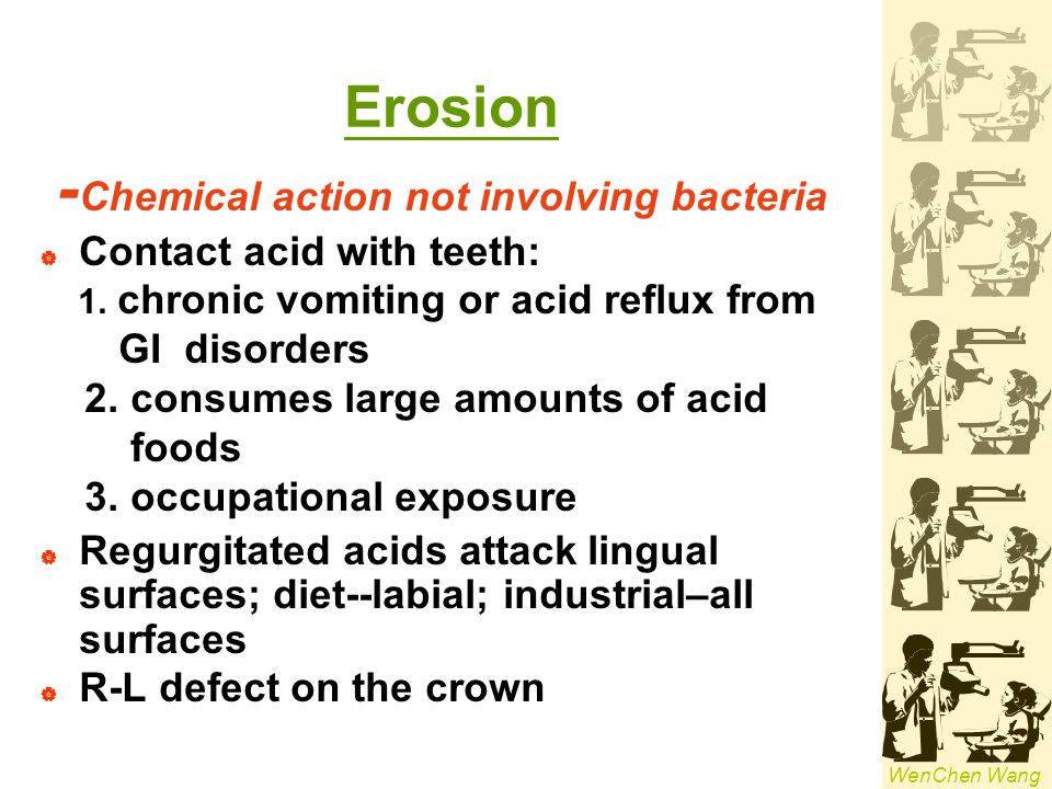 -Chemical action not involving bacteria
