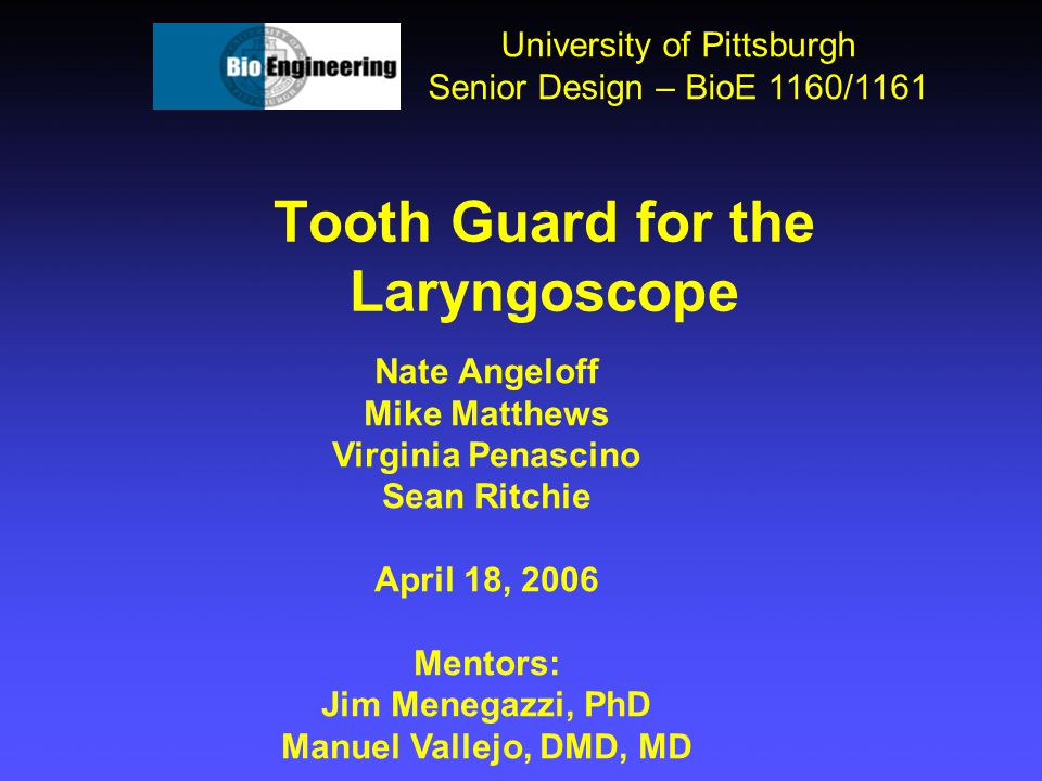 Tooth Guard for the Laryngoscope